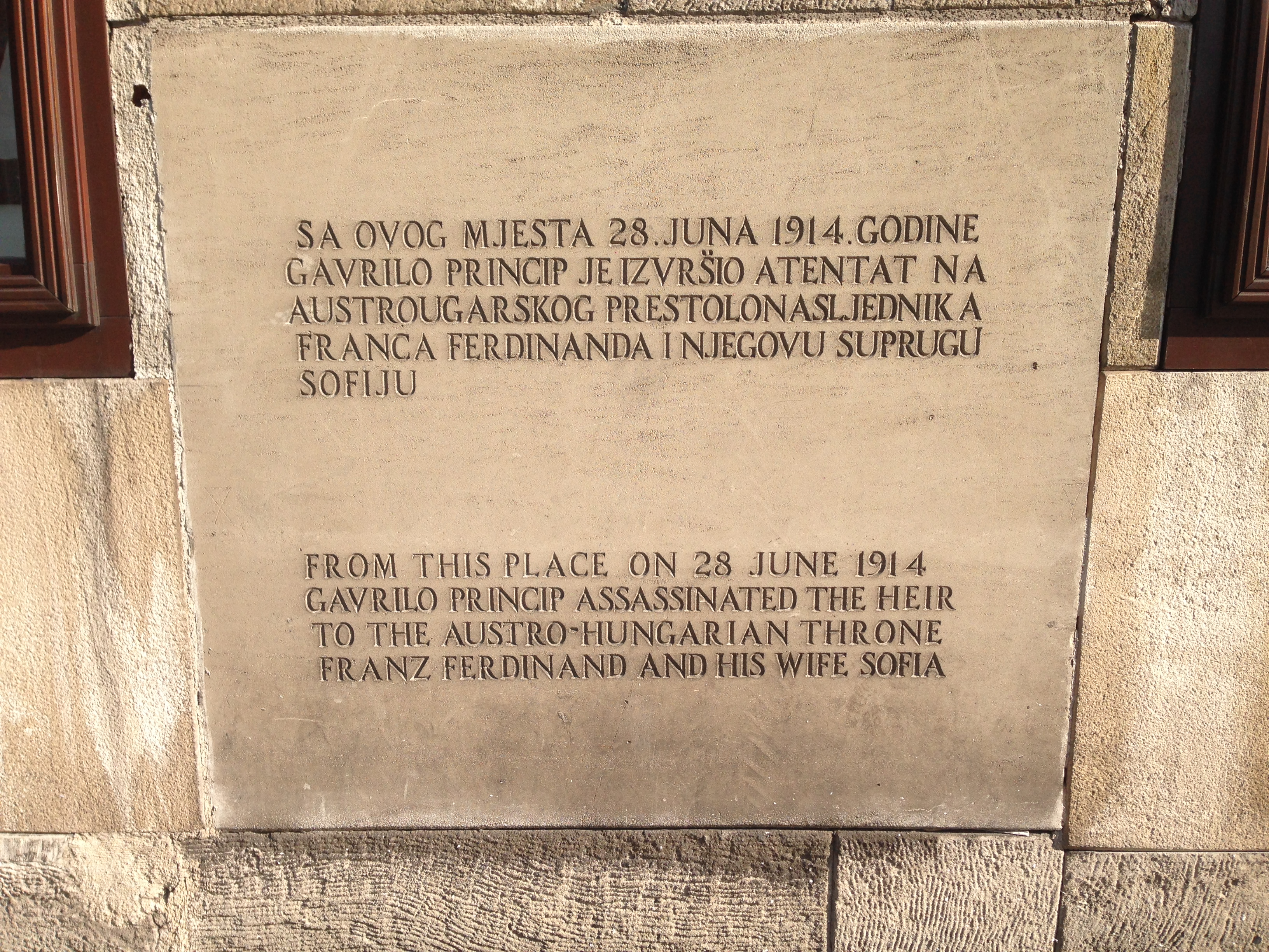 My grandfather was from Trieste, Italy, which is at the modern Slovenian  and Croatian borders. His father, the story goes, was a member of the  Archduke's ...